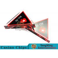 Unique Style Casino Game Accessories , Triangular Shape Poker Playing Cards  Manufactures