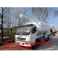 2018s hot sale dongfeng LHD 12m3 hydraulic discharging farm-oriented feed delivery truck, hydraulic system feed truck Manufactures