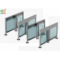 Servo Motor Automatic Turnstiles 2.0 mm Thickness Glass Turnstile Solutions Manufactures