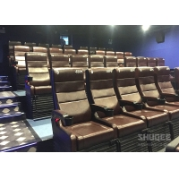 4 Seats Black PU leather 4D Cinema Motion Chair Pneumatic / Electronic for Home Theater Manufactures