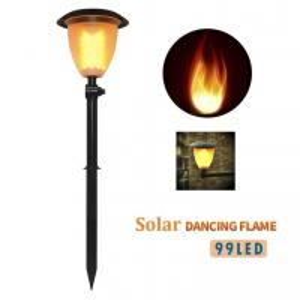 Solar Lights Dancing Flickering Flames Outdoor Solar Path Torches Lights 99 LEDs Lantern Solar Garden Lights