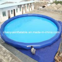 Outdoor Small Blue Inflatable Water Kids Pool for Swimming and Walk Roller Manufactures