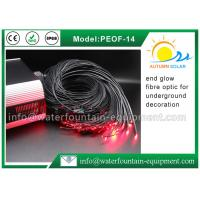 Decorative Underwater Pool Lights End Glow Fiber Optic Cable With Black Cover Manufactures