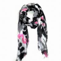 Fashionable Lady's Scarf, Made of 100% Cotton, with All Over Print Manufactures