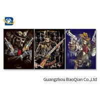 Flipped Customized 3D Framed Picture Of Animation Cool Skeleton For Indoor Decoration Manufactures