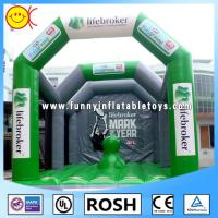 Green Adult Inflatable Playground InflatableStructure Hand - Painting Manufactures