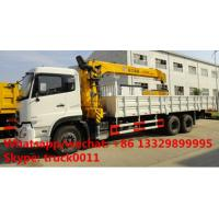 Quality DongFeng 6*4 folding boom mounted truck folding boom truck crane, factory sale for sale