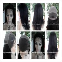 "Human hair full lace wig 10""-26""L 1b#color italian yaki indian remy hair,120%-180% density Manufactures"