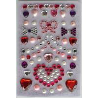Japan Style Crystal Custom Rhinestone Stickers , Card Craft Stickers For for sale