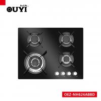 OUYI Black Tempered Glass 4 Different Size Sabaf Burner Gas Stoves Manufactures