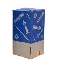 4 Color Printing Corrugated Coated Paper Box For Screw , Toys  3 * 3 * 5 Inch Manufactures