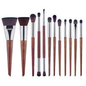 China Makeup brush set, 10 Brushes Cosmetic Set,Wood Handle Brush,Synthesis Hair on sale