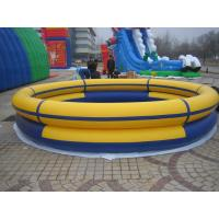 Outdoor Inflatable Family Swimming Pool For Kids , Yellow PVC Tarpaulin Manufactures