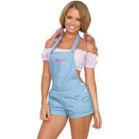 Sexy Country Gal Outfit Party Adult Costumes Polyester Spandex Material Manufactures