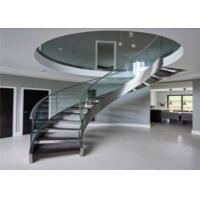 Buy cheap Interior Building Curved Stairs Screws Installation Contemporary Residential from wholesalers