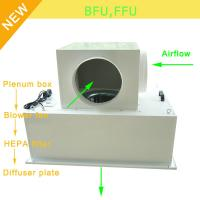 Low Noise 65bBA Clean Room Blower Fan Filter With Large Airflow 0.35 - 0.75m/S Speed Manufactures