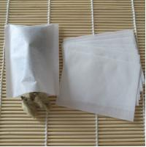 E1003 5*5cm heat-sealing Mini wood-pulp filter empty tea bag for coffee tea Manufactures