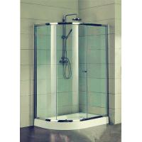 Quality Compact D Shaped Quadrant Shower Enclosures 4 Ft Small Corner Shower Stalls for sale