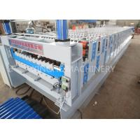 Quality PLC Automatic Zinc Roofing Roll Forming Machine / Corrugated Roof Sheet Making Machine for sale