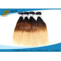 Buy cheap Double Weft T1B / 27 Ombre Remy Ladys Hair Extensions Peru Hair Bundle from wholesalers
