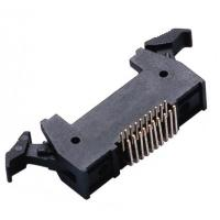 20P 1.27 * 2.54mm Latch Header Right Angle Male  Connector PA9T plastic ROHS Manufactures