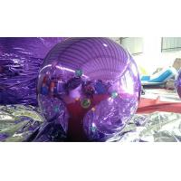 1M Inflatable Mirror Ball Balloons With Logo Printed Purple And Blue Manufactures