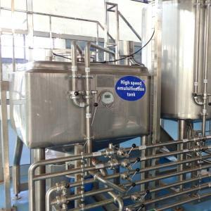 800l Bottom Shearing Emulsification Tank For Milk Powder Manufactures