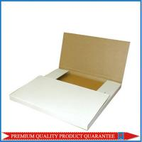 plain white folding corrugated shipping box; mailer box with double sided tape Manufactures