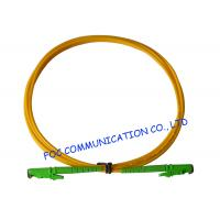 E2000 Fiber Optic Patch Cord SM G.652D Fiber Simplex 3.0mm For Telecom Networks Manufactures