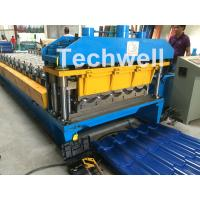 Buy cheap 3D Step Tile Roll Forming Machine , Glazed Roof Panel Roll Forming Machine from wholesalers