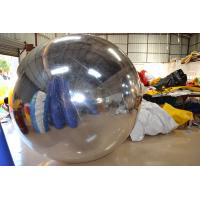5m PVC Inflatable Advertising Balloons  Reflective Ball Outdoor Silver Manufactures