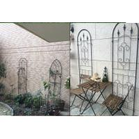 Black Color Garden Plant Trellis / Metal Garden Trellis Simple Understated Design Manufactures