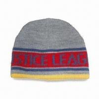 Children's Knitted Hat, Made of Acrylic, Available with Jacquard Pattern Manufactures