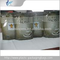 Stand UP Printed Aluminum Foil Ziplock Bag For Coffee Packaging Manufactures