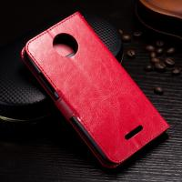 Protective Wallet Stand Motorola Leather Case For Motorola C Plus Side - Open Manufactures