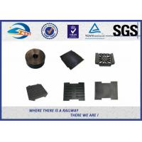 Railway Track Pad Plastic And Rubber Part EVA HDPE Black Surface Manufactures
