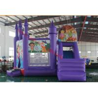 commercial grade inflatable bouncer for sale dora inflatable bouncy castle with slide Manufactures