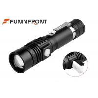 Quality Long Shot Range T6 LED Zoom Torch, MINI USB Rechargeable LED Flashlight for sale
