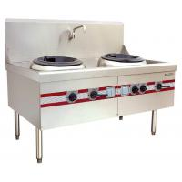 Air Blast Type Wok Range Double Burner Cooking Stove 1500 x 910 x (810+back) mm Manufactures
