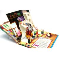 China children colorful fairy tales pop-up playing books printing service on sale
