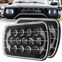 85W Rectangle Jeep Wrangler Yj Led Headlights , 5x7 Cree Led Headlights With DRL Manufactures
