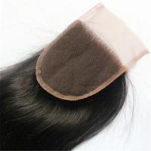 China virgin malaysian silk base lace closure bleached knots on sale