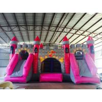 12m x 10m Castle Inflatable Dry Slides Dragon Cartoon Fireproof High Tension Manufactures