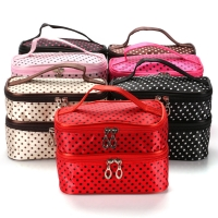 Multi-Function Large Capacity Double-Layer Cosmetic Bag Travel Manufactures