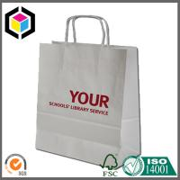 White Kraft Paper Material Red Custom Logo Print Paper Bag for Shopping Manufactures