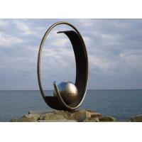 Modern Geometric Stainless Steel Outdoor Metal Sculpture For Large Garden Decoration Manufactures