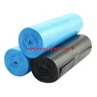 China high quality HDPE eco-friendly biodegradable BLACK garbage bag 550*630mm 10mic 35L garbage bag on sale