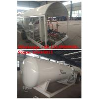 ASME standard ammonia skid lpg gas refilling plant for sale, best price CLW brand mobile skid propane gas station Manufactures