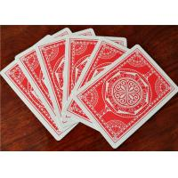 OEM Logo Printed Casino Grade Playing Cards , Bar Code Plastic Quality Poker Cards Manufactures