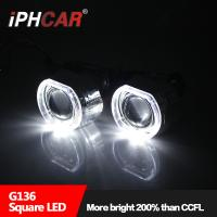 IPHCAR 2.5 inch Hid Mini Projector Lens With Square Angel Eye H1 H7 H4 Hid bi Xenon Projector Light Manufactures